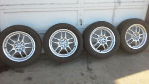 Set of Rims with Tires