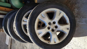 "Toyota Matrix  original 16"" mags and tires 205-55-16"