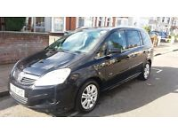 VAUXHALL ZAFIRA DESIGN 1.6 PETROL MANUAL 2009 BLACK PCO REGISTERED 7 SEATER EXCELLENT CONDITION