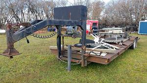 30 foot fifth wheel flat deck trailer {NEW DEAL}