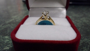 Approx .40 Carat Solitaire  Gold Engagement Ring, Size 4