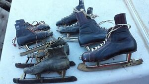 Vintage Leather Skates 60+ yrs old. Speed + Hockey skates