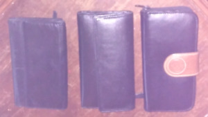 3 leather wallets