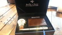Bella Rose Watch, Pen and Business card holder gift box