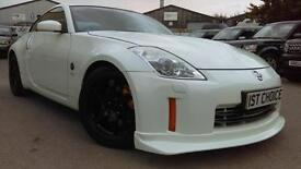 2008 NISSAN 350 Z V6 GT PEARLESCENT WHITE WITH BLACK LEATHER NISMO REAR SPOI