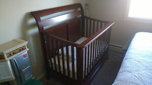 Baby Crib - Solid w/Cherry Wood Stain