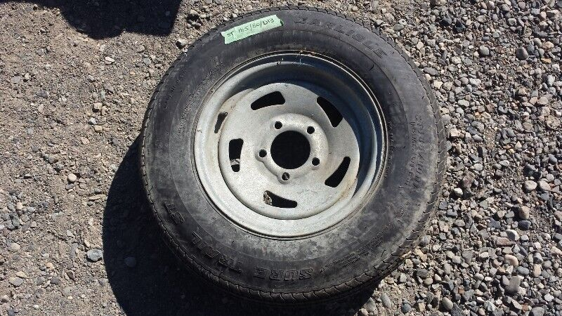 13 Inch Trailer Tire And 5 Bolt Rim Tires Rims Whitehorse Kijiji