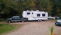 2008 Ford F-250 Lariet Pickup Truck with Trailer