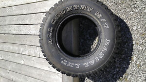 New Tire All Country M/T Lt235 75 r15