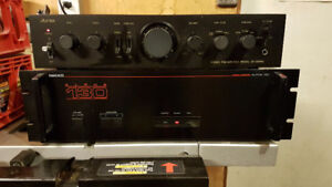 Vintage 80's stereo Power amp Pre amp Turntable