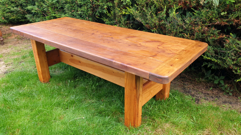large solid pine farmhouse kitchen table  in dunfermline