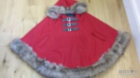 Beautiful red poncho - London - New - One size - £30