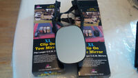 XL clip on Tow Mirrors by Prime products