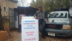 REBUILT TOP LOAD WASHING MACHINES  WITH WARRANTY
