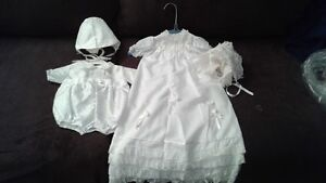 baptism outfits 1 for boys and a long dress for girls