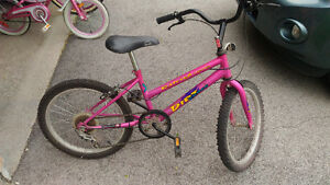 "Pink girl's bike - 20"" inch wheels"