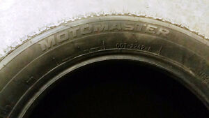 MOTOMASTER Winter Tire Studded tire 225/65/17 Used for one seas