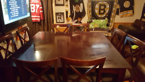 Pub Style Wooden Dining Table