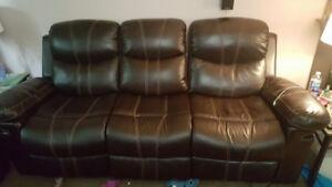 Like new reclining sofa