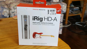 Digital guitar interface for Android - iRig HD-A