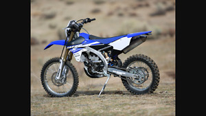 Running dirt bike
