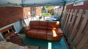 Leather reclining couch mint condition