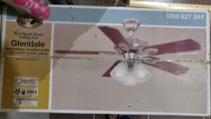 """Hampton Bay 42"""" Small Room Ceiling Fan with Light"""