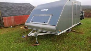 2014 12 ft double snowmobile trailer