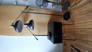 Lamps, bookshelves, coffee table, side tables etc