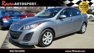 CERTIFIED 2011 MAZDA3 GX SEDAN - AUTO - NEW TIRES +MORE -YORKTON