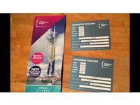 Spinnaker Tower Tickets - 4 tickets