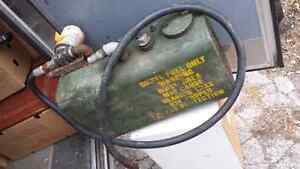 Metal fuel tank for diesel fuel with hose & filter.. $40.00
