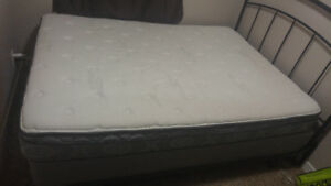 Bed including headboard, frames and the box for 250 bucks only