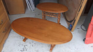 roxton solid maple oval coffee table and end table