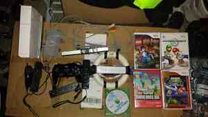 Nintendo wii. With 3 games