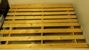 REDUCED - Double wooden futon frame only
