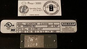 Hobart Quantum Commercial Scale With Printer London Ontario image 7