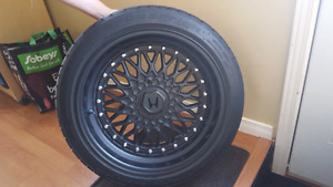 ESM 4x100 17x8.5 et20 Matte black wheels
