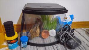 Betta aquarium with tons of accessories