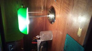 Antique bankers desk lamp