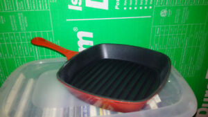 """New Cast Iron Grill Pan 10 1/2"""""""
