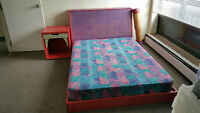 Kids Poster Bed and New Mattress
