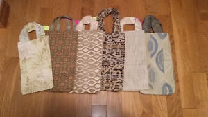 HAND SEWN BAGS - shopping/baby/gift/bridal/wine/beach/shoes