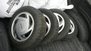 OEM Acura Integra Aluminum Alloy Rims with snow tires