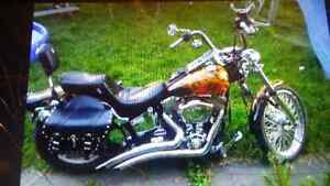 REDUCED, 120 cubic inch MONSTER , 95 softail custom