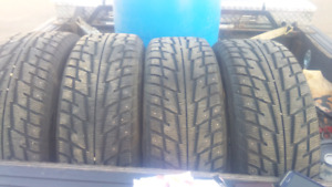 18 inch studded winter tires on rims