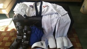 Hapkido Uniform & Sparring Gear - LIKE NEW