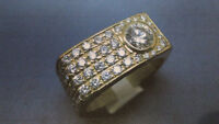 2.5ctw Men's Ring with 1.00 CT Main Diamond Appraised at $13,335