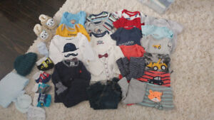 Newborn size baby boys clothing lot