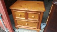 Broyhill 2 Drawer Solid Pine Bed Side Table